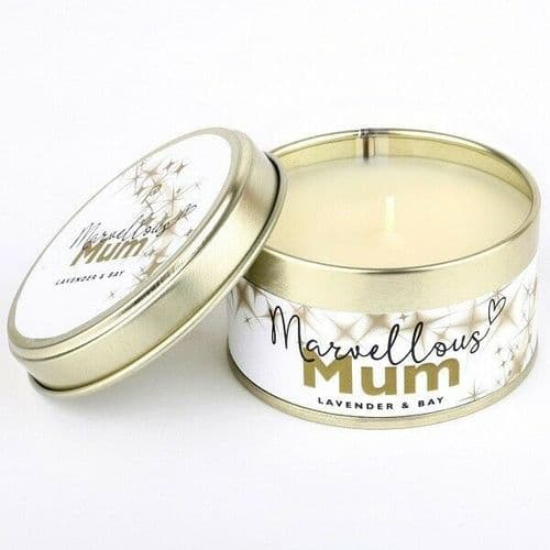 Marvellous Mum Occasions Candle, Candle Tin, Pintail Candles
